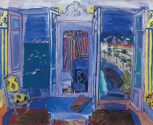 《ニースの窓辺》1928年 油彩・キャンバス 島根県立美術館蔵